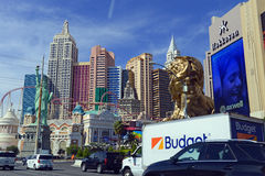 Casinos along the strip in Las Vegas, Nevada Royalty Free Stock Image