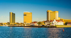 Casinos along the waterfront in Atlantic City, New Jersey. Stock Image