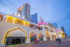Casinos in Atlantic City, New Jersey. Royalty Free Stock Photography