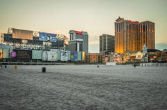 Casinos and the Beach Royalty Free Stock Photography