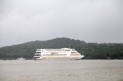 Casinos can be found in Goa on boats docked in Mandovi river Royalty Free Stock Photo