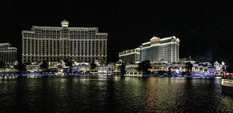 Casinos de Las Vegas par nuit photographie stock libre de droits