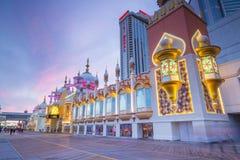 Casinos em Atlantic City, New-jersey imagens de stock royalty free