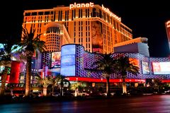 Casinos in fabulous las vegas stock photography