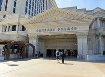 Casinos a lo largo de la tira en Las Vegas, Nevada fotografía de archivo