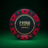 Casinospaander met plaats voor textrealistic thema Royalty-vrije Stock Foto's