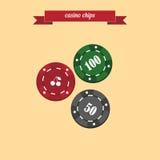 Casinospaanders royalty-vrije stock afbeelding