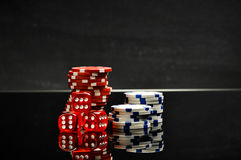 Casinothema, atmosferisch licht Stock Fotografie