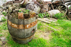 Cask ale drum. Royalty Free Stock Photos