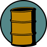 Cask or metal barrel cointainer. Vector. Illustration of a cask or metal barrel container. Vector file available in EPS format Stock Photos