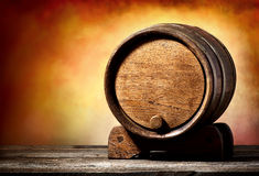 Cask on a stand Royalty Free Stock Image