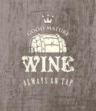 Cask of wine royalty free illustration