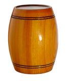 Cask. Wooden varnished barrel on white background Royalty Free Stock Image