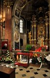 Casket of cardinal J.E. Tomas Spidlik Stock Photography