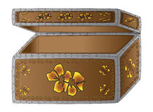 Casket chest Stock Image