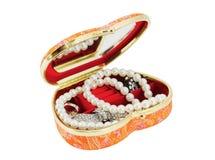 Casket with costume jewellery Stock Image