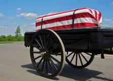 casket drapped flagga Royaltyfri Bild