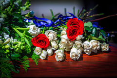 Casket Flowers Stock Image