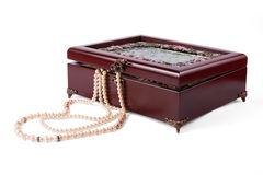 Casket with jewelry Royalty Free Stock Image