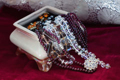 Casket with jewelry Royalty Free Stock Photo