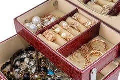 Casket with jewelry Stock Photos