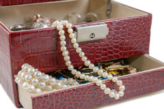 Casket with jewelry Royalty Free Stock Photography