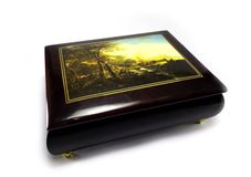 Casket with jewelry Stock Images
