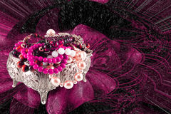 Casket of jewels Royalty Free Stock Image