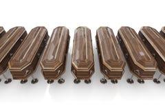 casket in line Stock Photo