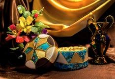 Casket made in the technique kinusayga Stock Photos