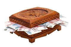 Casket with money Royalty Free Stock Photography