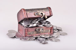 Casket with money Royalty Free Stock Image