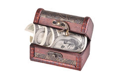 Casket with money Stock Photos