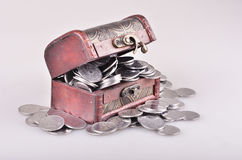 Casket with money Stock Photography