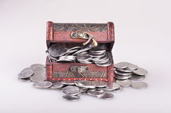 Casket with money Stock Images