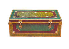 Casket. Old metal casket isolated included clipping path Royalty Free Stock Photos
