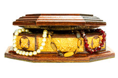 Casket with ornaments Stock Images