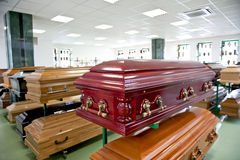 Casket store Royalty Free Stock Photos
