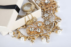Casket With Jewelry Stock Photography