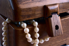 Free Casket With Pearl Beads Stock Image - 4132061