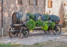 Casks on a carriage Royalty Free Stock Image