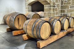 Casks in wine Royalty Free Stock Photography