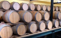 Casks in wine cellar Stock Images