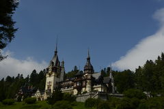 Casle in Sinaia, Romania. Beatiful view from Peles Castle Stock Photography