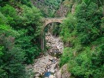 Casletto bro i Val Grande National Park royaltyfri foto