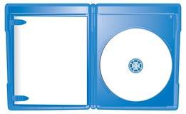 Caso aperto del Blu-Raggio Fotografia Stock Libera da Diritti