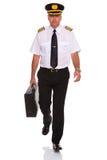 Caso carreg de passeio do vôo do piloto da linha aérea. Imagem de Stock Royalty Free