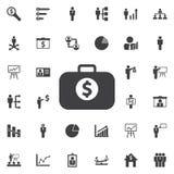 Caso com ícone do dólar ilustração do vetor