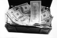 Caso com dólares Imagem de Stock