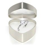 Caso con el anillo Foto de archivo